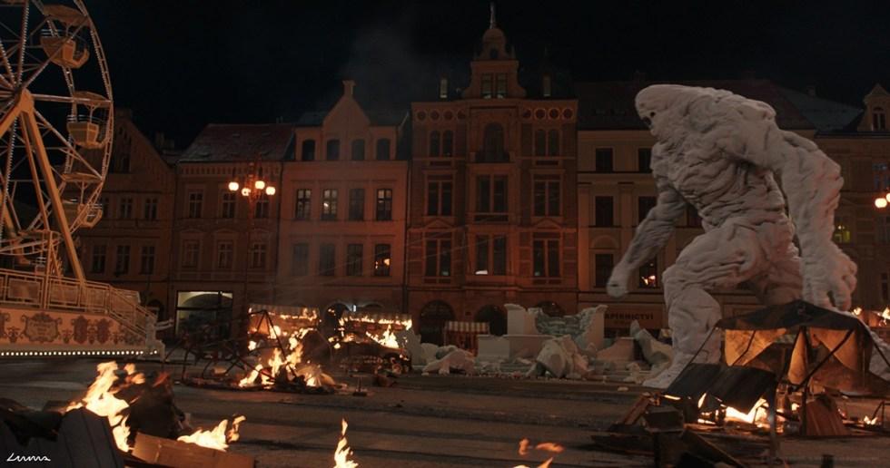 在布拉格拍摄的《蜘蛛侠:英雄远征》的镜头制作,以及初始的 CG渲染