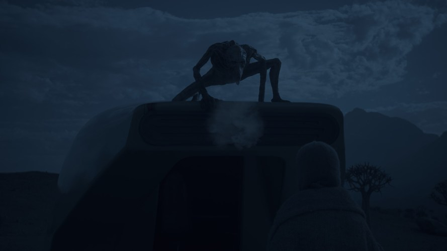 电影《异星灾变》Campion独自站在着陆舱后面-renderbus云渲染农场