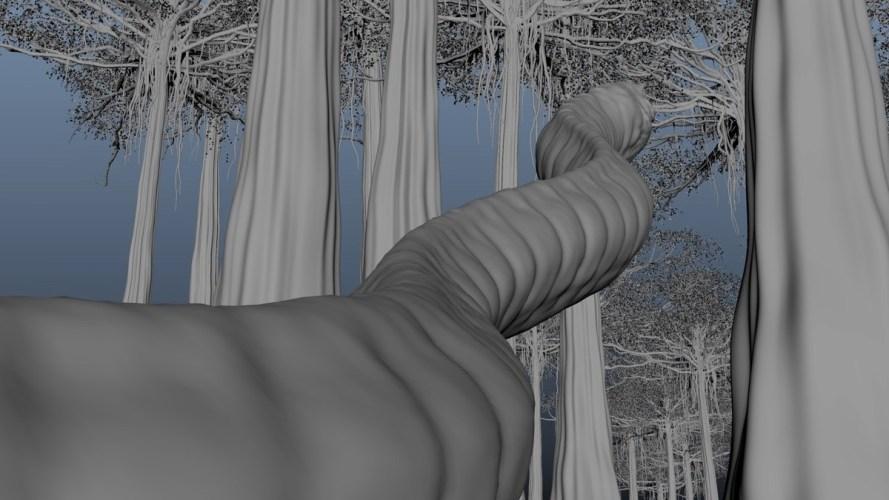 电影《异星灾变》蛇出来建模-renderbus云渲染农场