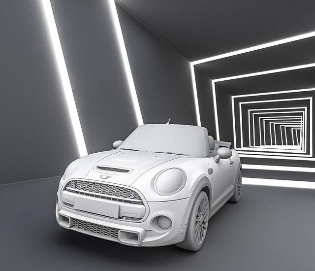 Mini Cooper建模-Renderbus云渲染农场