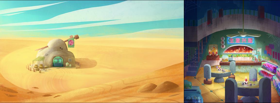 风帧动画短片《鸡飞狗跳》概念设计 - Renderbus云渲染农场