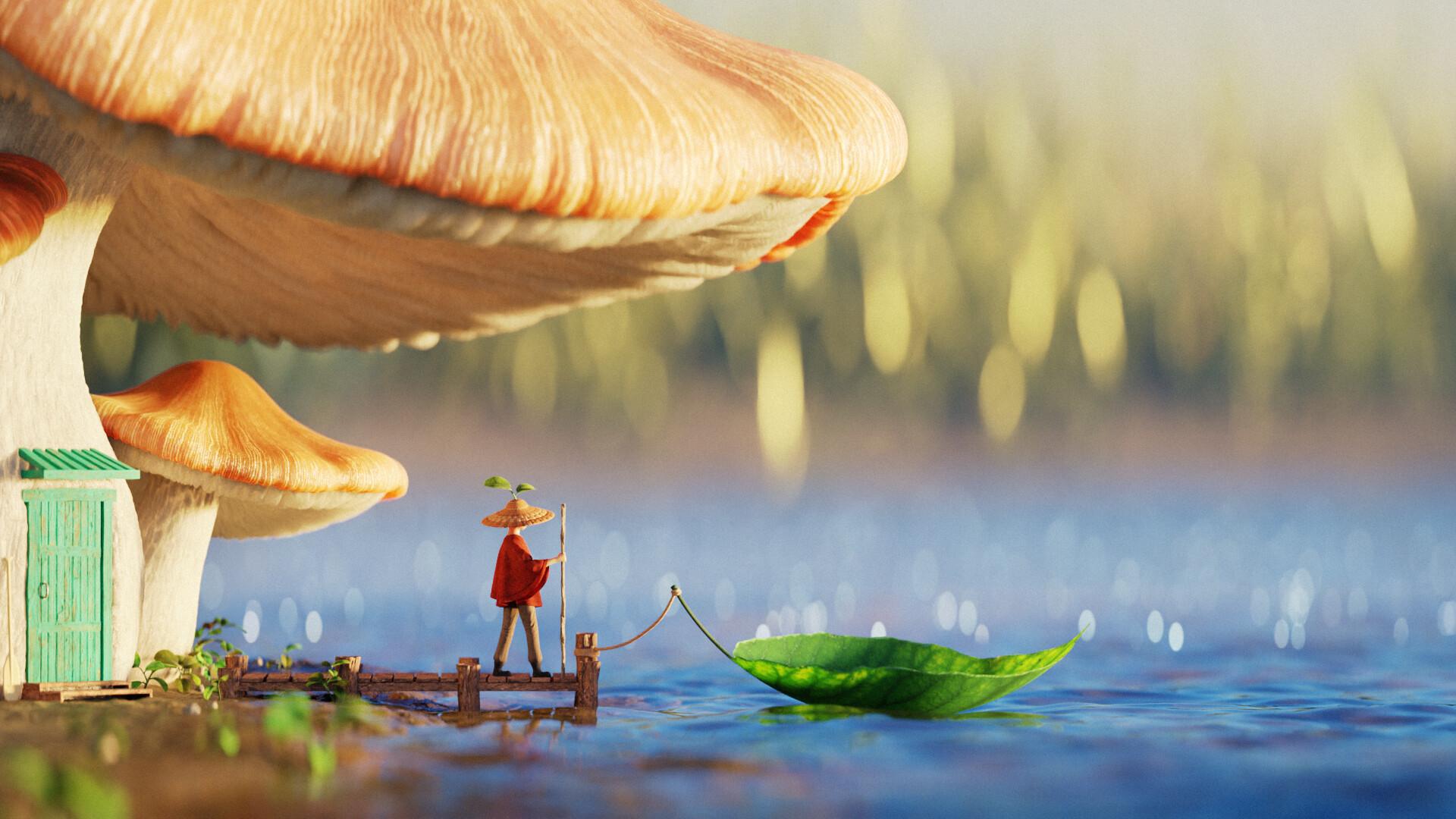 瑞云渲染专访:如何用Blender制作一个超真实的蘑菇屋