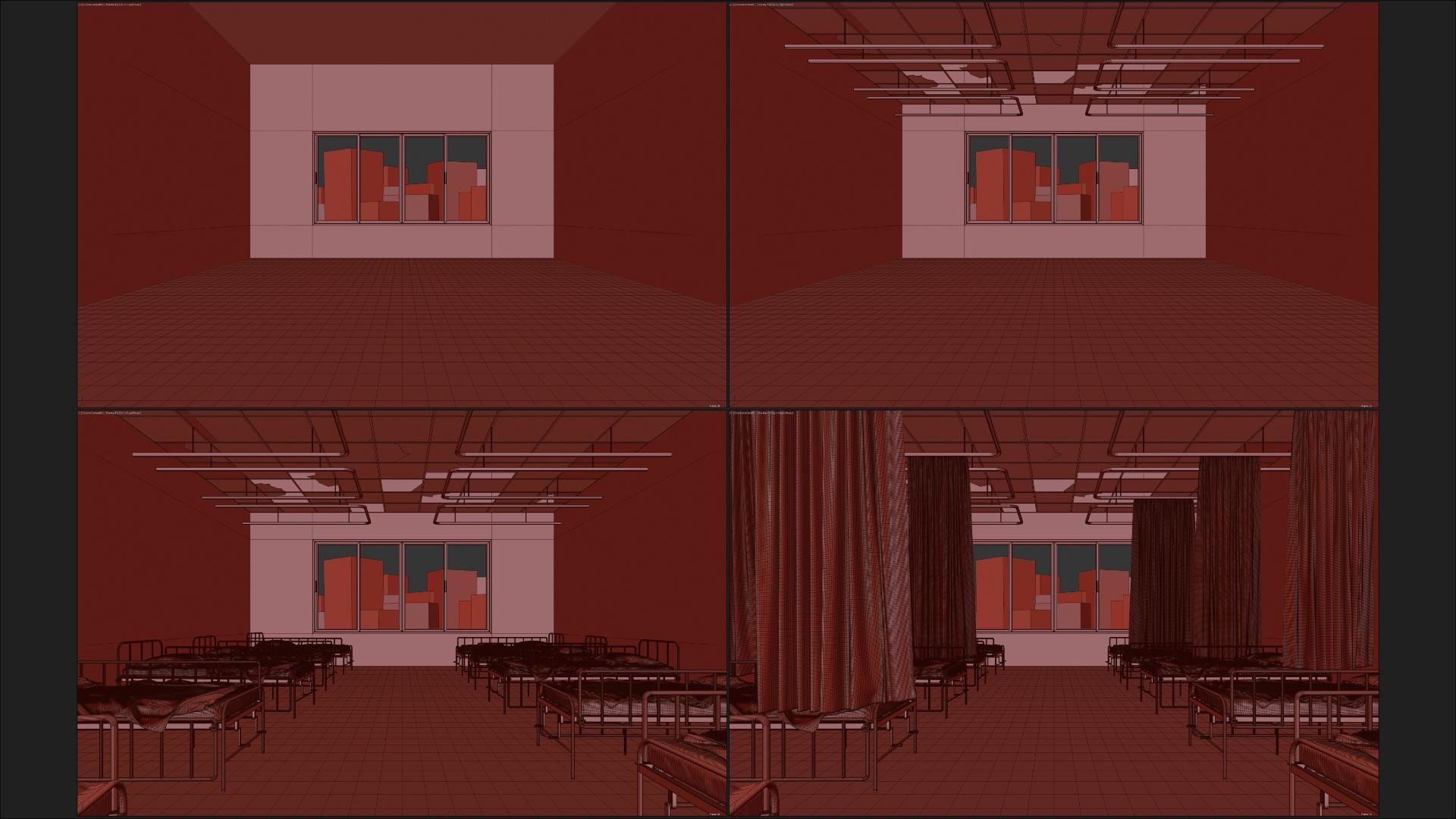 作品场景建模制作过程