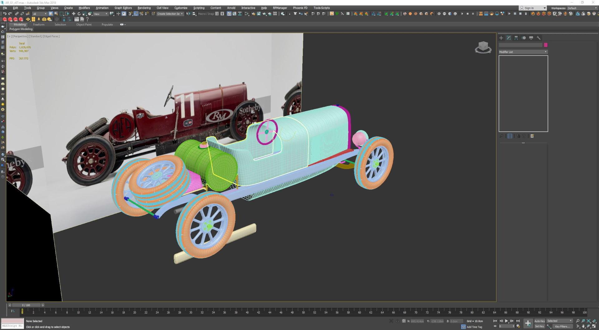 汽车模型贴图