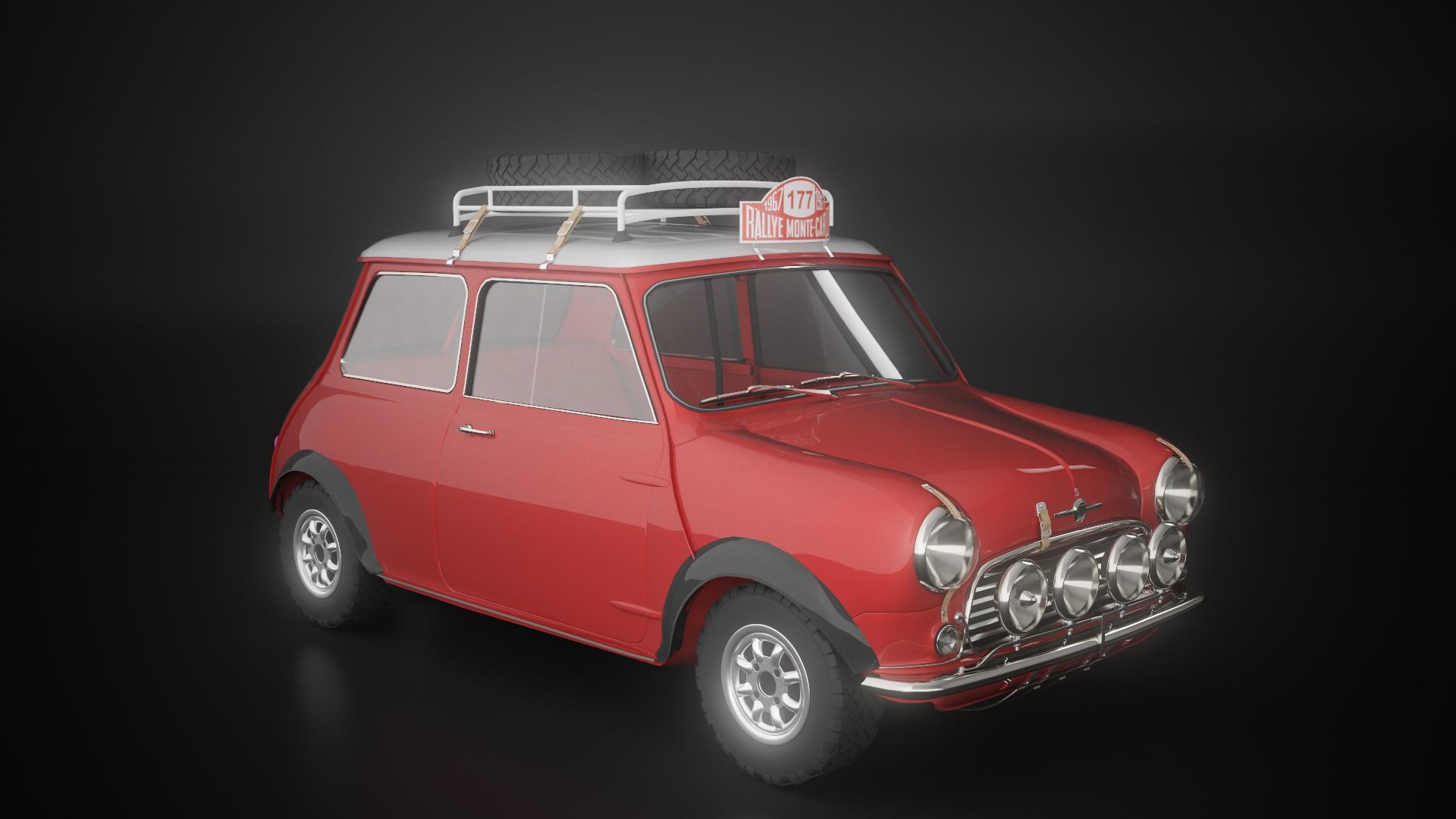 小汽车建模效果-瑞云渲染