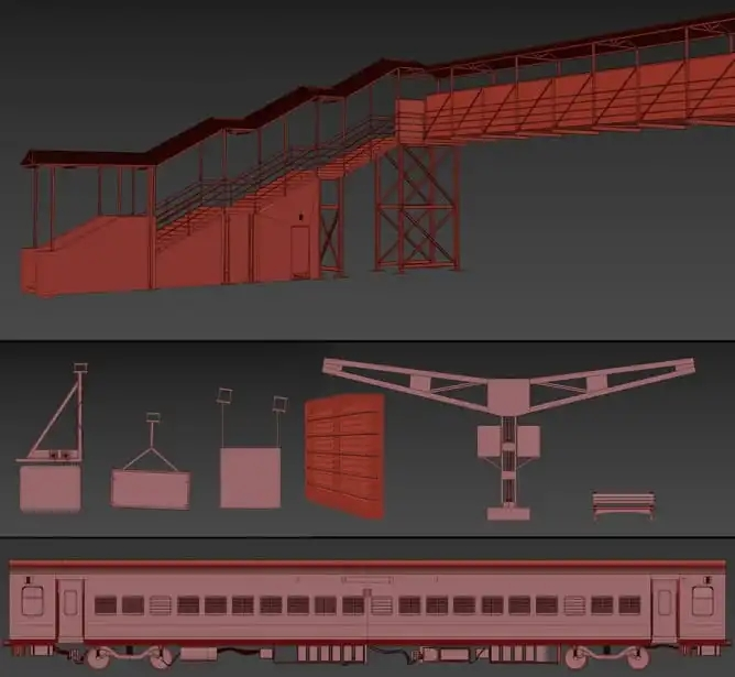 火车基础模型制作-Renderbus云渲染农场