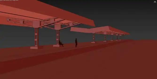 车站建模过程-Renderbus云渲染农场