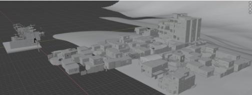 中景中贫民区房屋的资产建模-Renderbus瑞云渲染农场