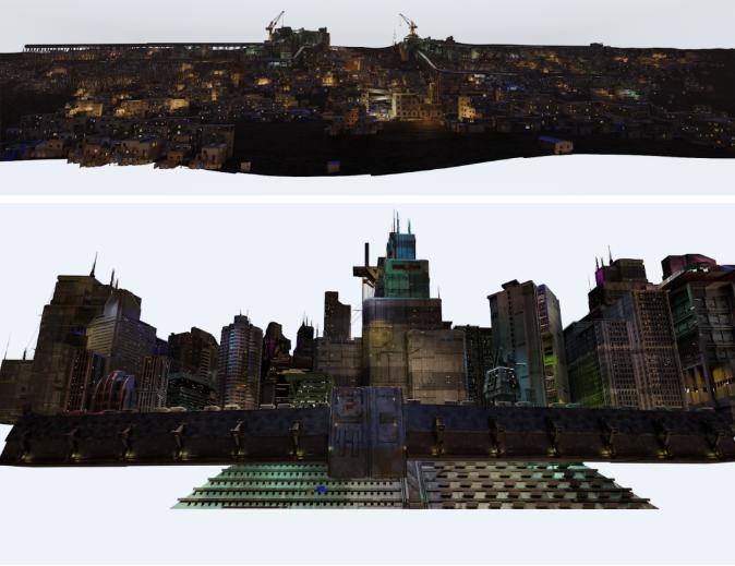 中景和背景部分的最终渲染效果-Renderbus瑞云渲染农场