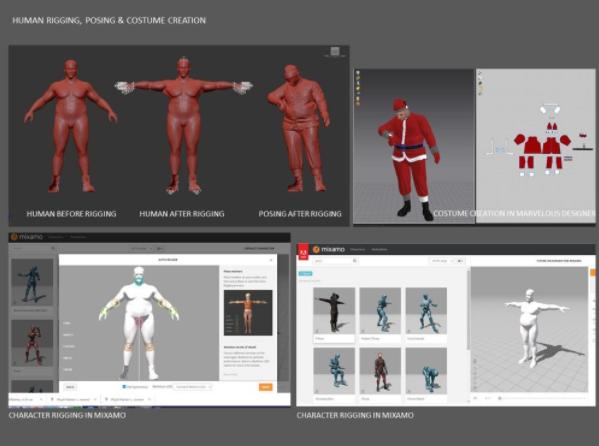 圣诞老人建模设计 - Renderbus瑞云渲染