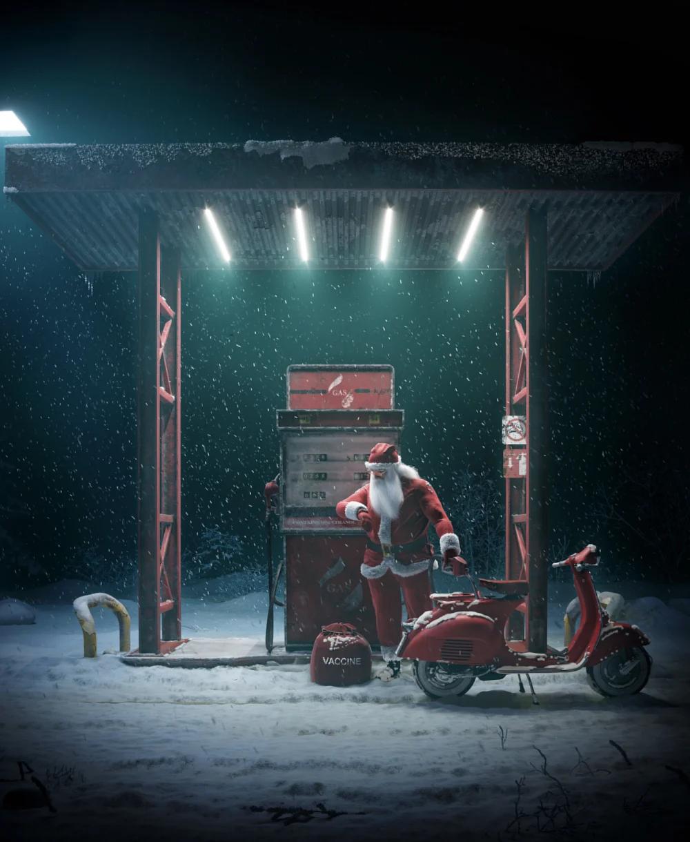 瑞云渲染专访:在ZBrush和Maya中制作卡通风格的重金属圣诞老人