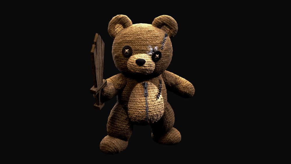 场景中泰迪熊建模效果-Renderbus云渲染