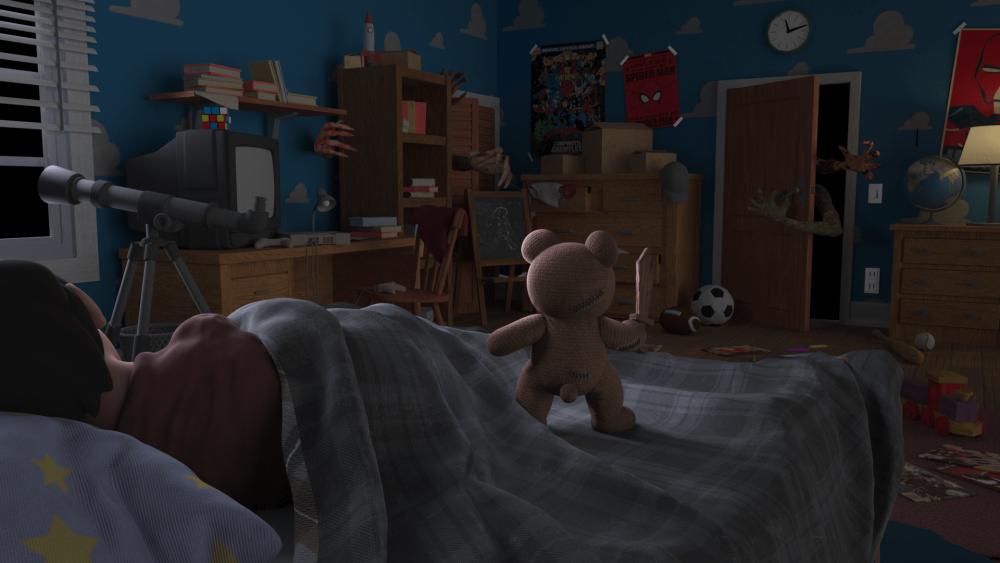 Cuddly Protector场景最终制作效果-Renderbus云渲染