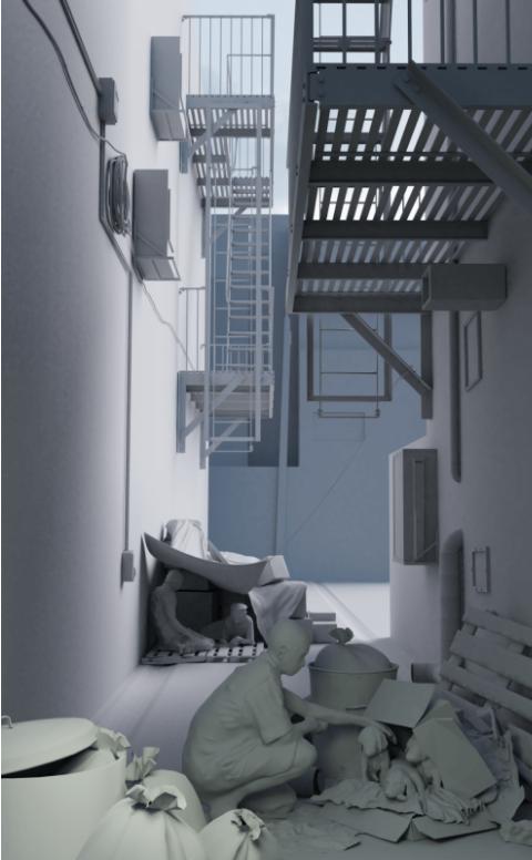 如何在Blender中创建Norman Rockwell风格的CG场景-Renderbus瑞云渲染农场