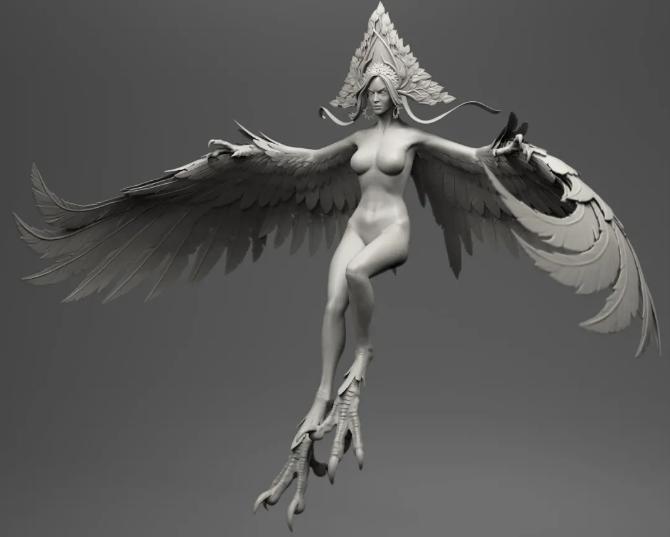 角色翅膀模型设置 - 瑞云渲染