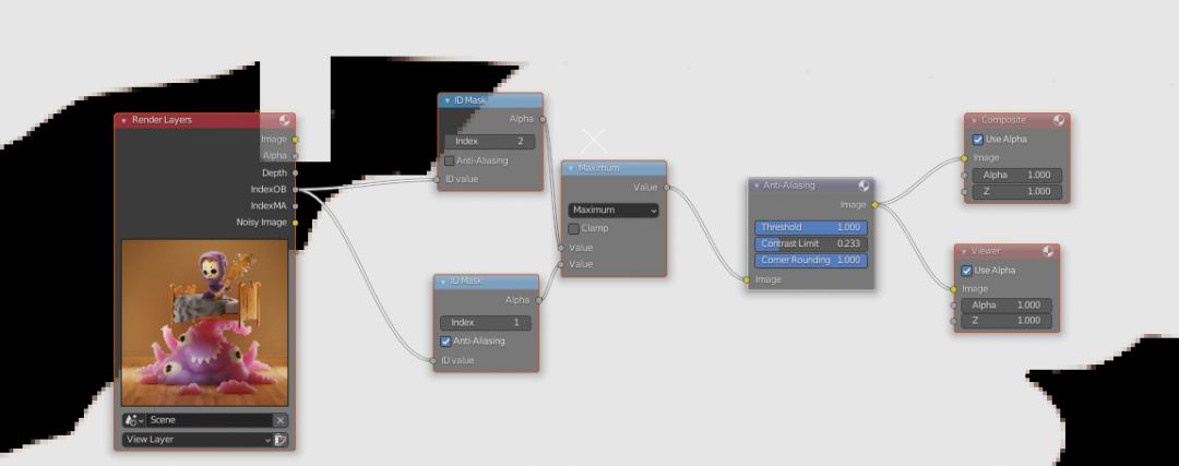 "Blender 2.93 LTS发布更新 - ""反锯齿""(Anti-Aliasing)节点"