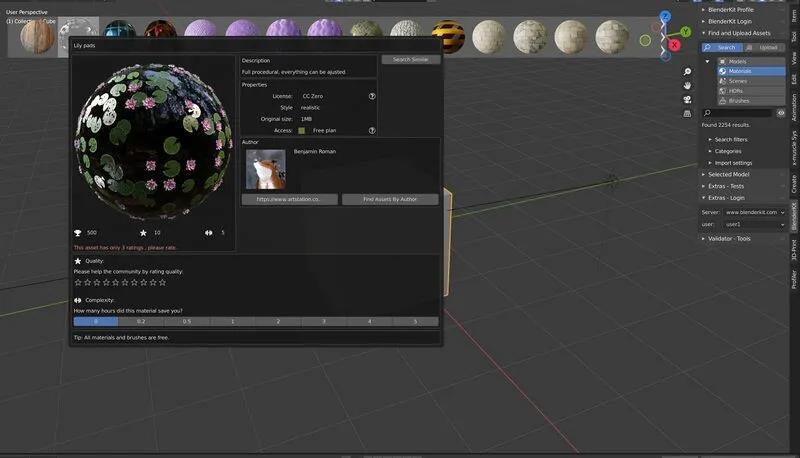 Blender 2.93 LTS发布更新 - BlenderKit插件
