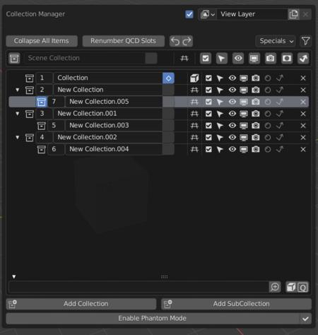 Blender 2.93 LTS发布更新 - Collection Manager插件