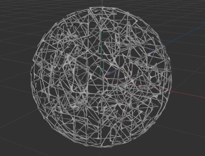 球形网状的结构-瑞云渲染
