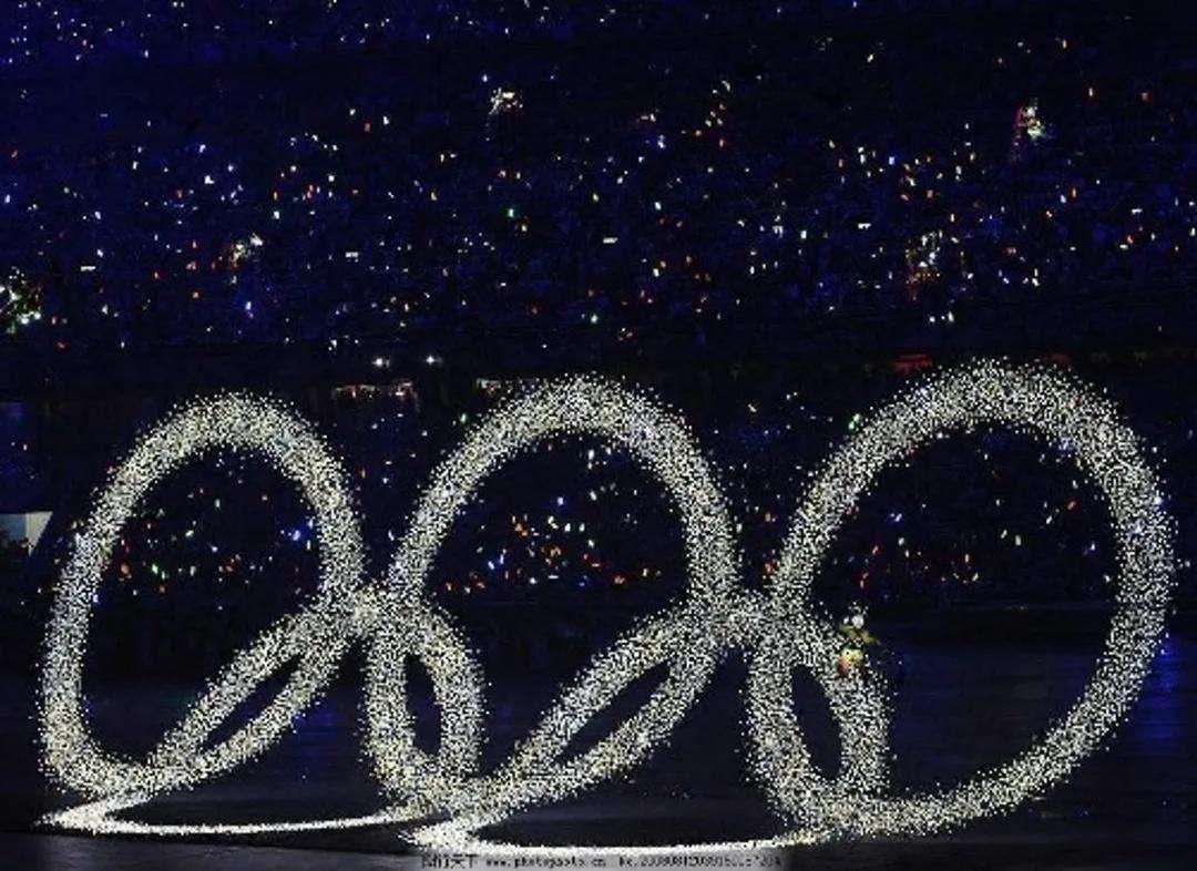 北京奥运会开幕式五环汇聚 - 瑞云渲染农场