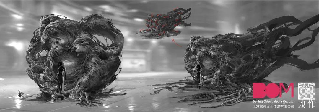 《太空群落》早期设定概念图 - 瑞云渲染