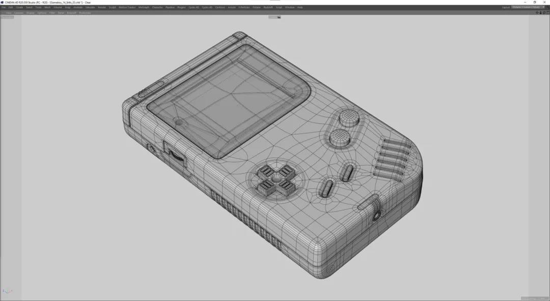 Gameboy机身建模 - 瑞云渲染