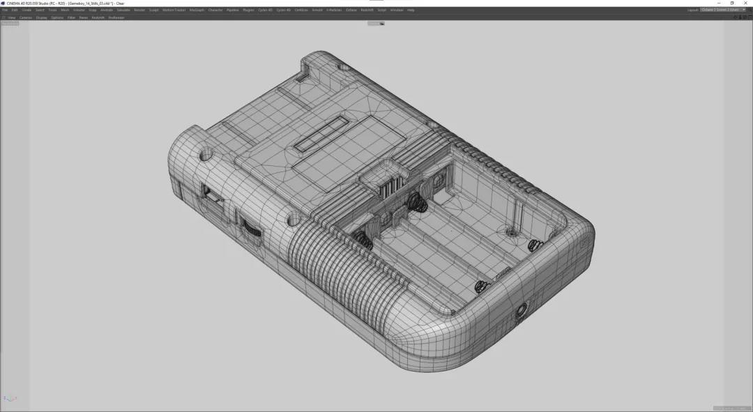 Gameboy机身线框渲染效果 - 瑞云渲染