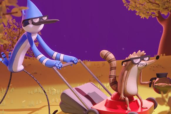 用Blender制作动画剧集《日常工作(Regular Show)》中的Mordecaihe和Rigby