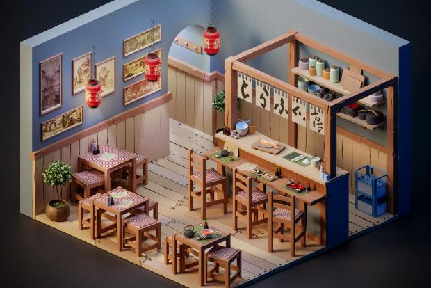 超可爱的小房子,你想住哪间?Blender低多边形场景教程
