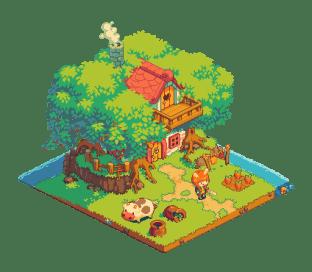 游戏像素风格小城镇-像素艺术启发