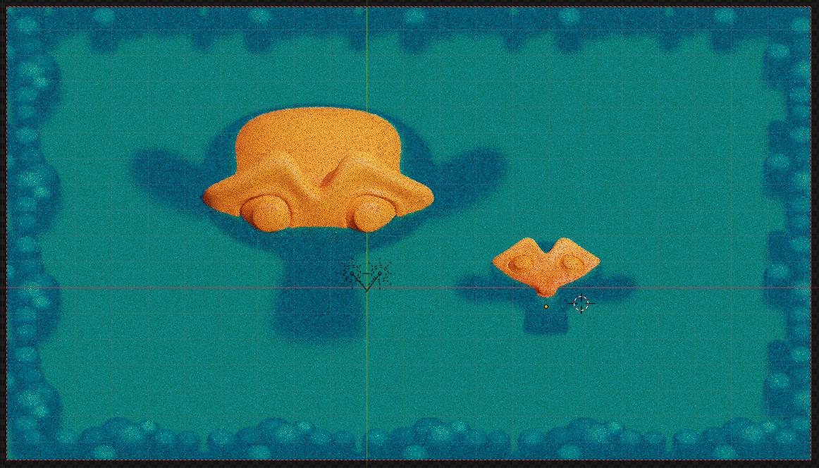 Blender制作游戏像素风格小城镇-水的材质设置