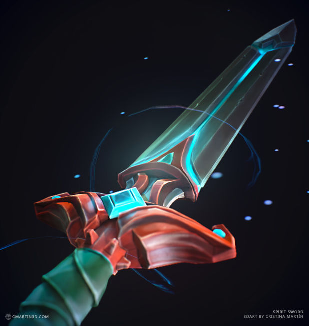 灵剑(Spirit Sword)3D渲染效果图_Renderbus云渲染农场