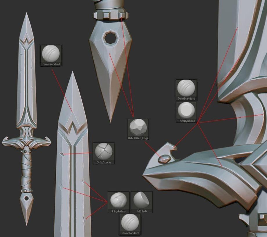 灵剑(Spirit Sword)3D制模细节纹理_Renderbus云渲染农场