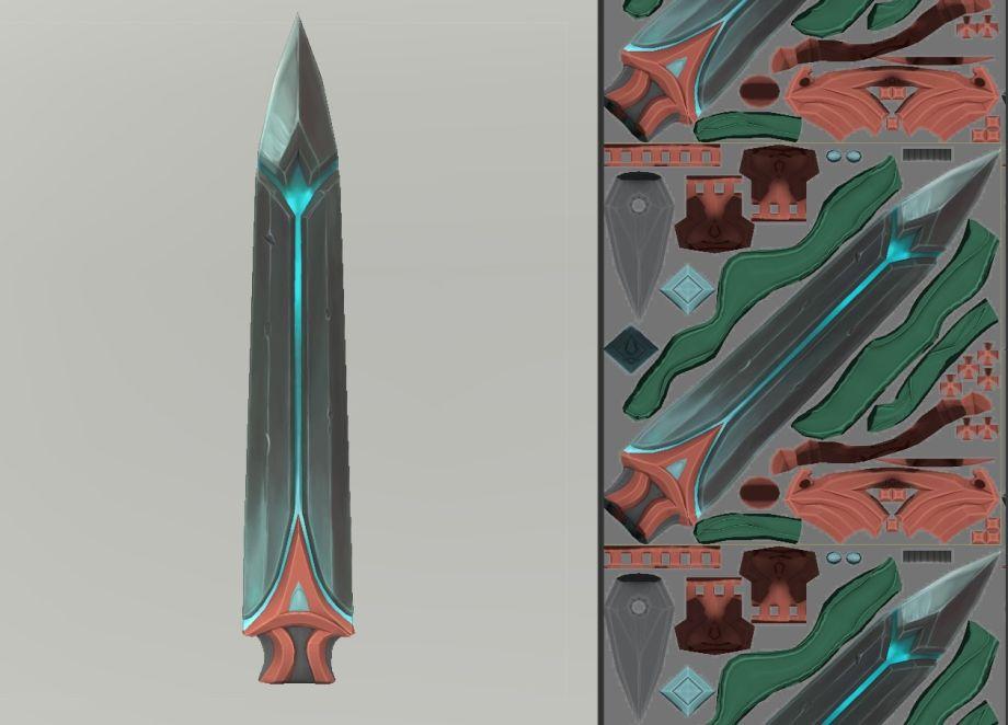 在3ds Max中制作灵剑的纹理贴图_Renderbus渲染农场