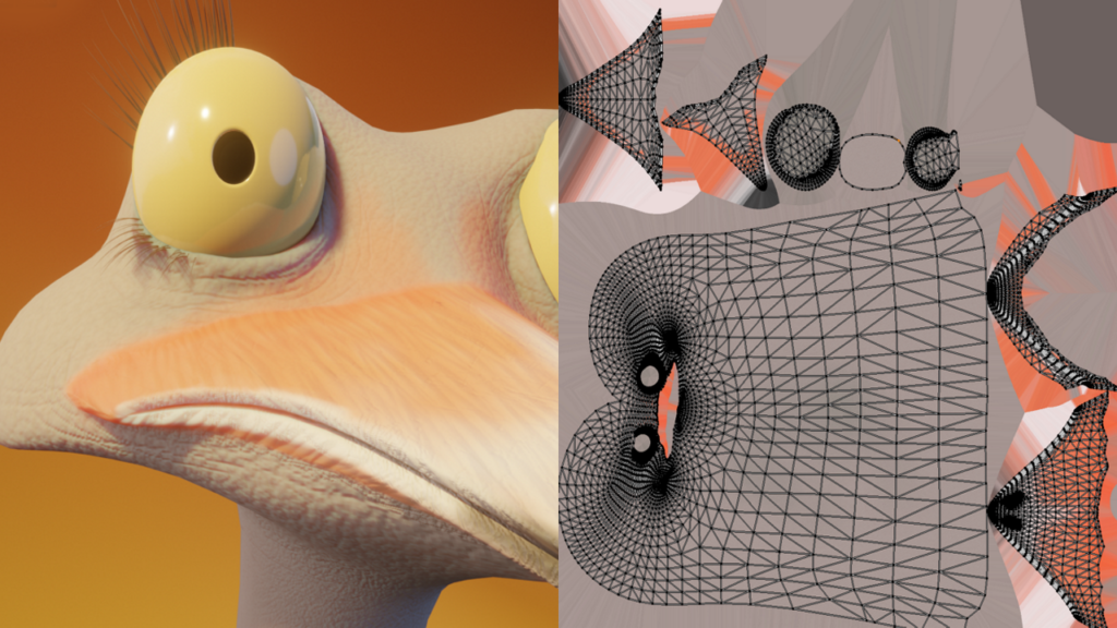 【Blender毛发教程】鸵鸟纹理化设置-Renderbus云渲染农场