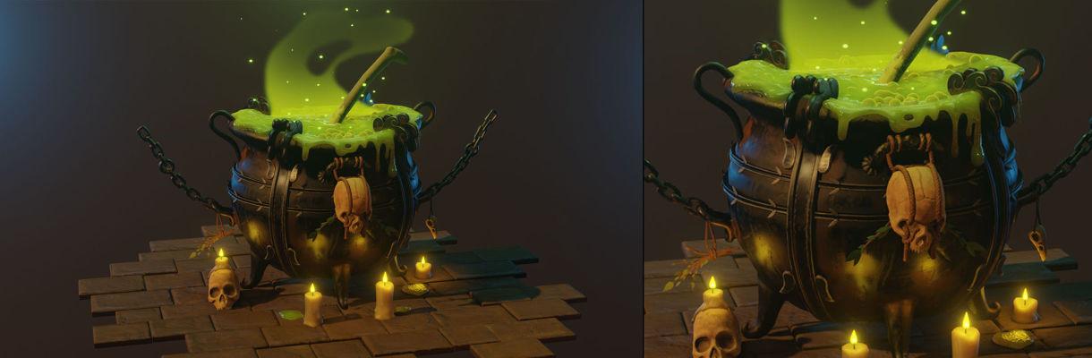 【3D制作教程】使用Blender和ZBrush制作女巫大锅(下)