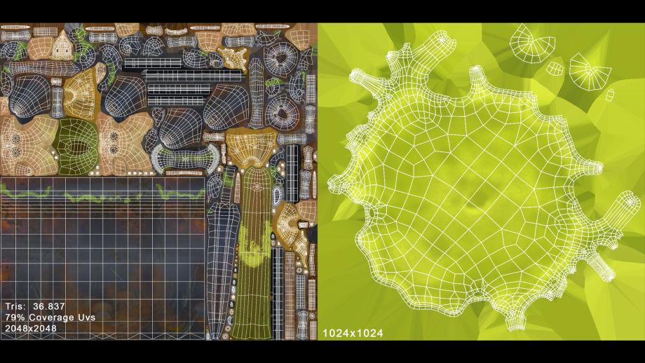 拓扑和UV制作-Renderbus云渲染农场