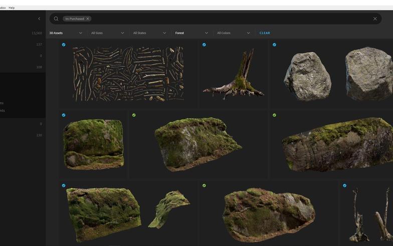 岩石建模效果 - Renderbus云渲染农场