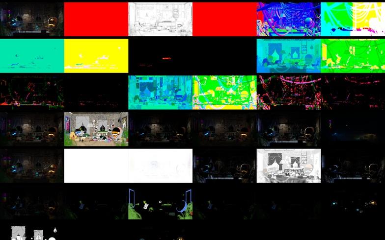 调整场景颜色、渐变、平衡 - Renderbus云渲染农场