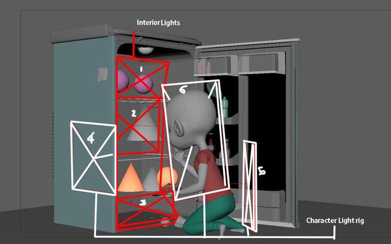 冰箱内矩形灯设置 - Renderbus云渲染农场