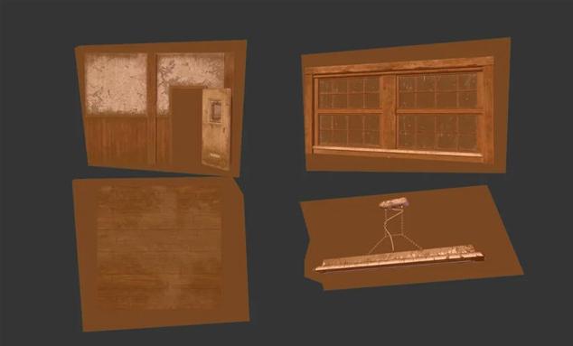 墙面、地板、窗户、吊灯等模型材质的制作
