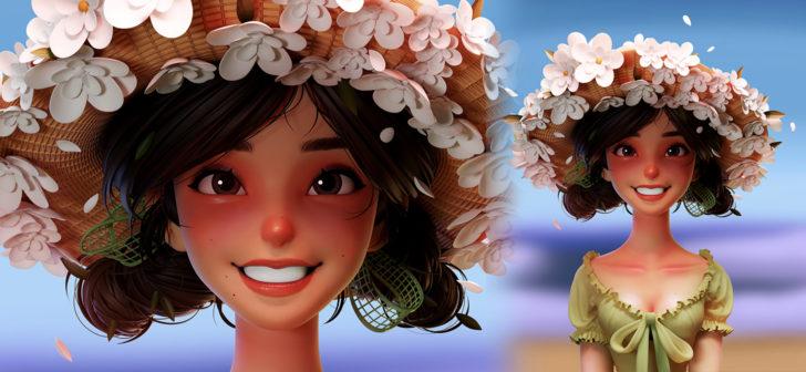 通过Blender设计一个可爱的CG夏日女孩