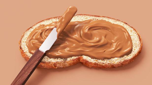 3D广告作品图像 - 面包花生酱