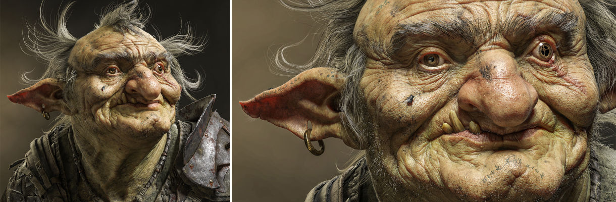 Zbrush,3ds Max制作逼真的妖怪:面部和盔甲雕刻工作流程(上)