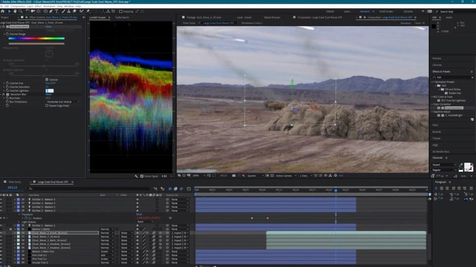 如何在After Effects中制作VFX镜头:流星坠毁