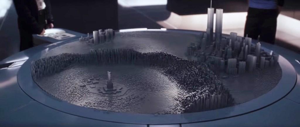 VFX镜头视觉特效教程:还记得《 X 战警》里的那张展示地图的桌子吗?