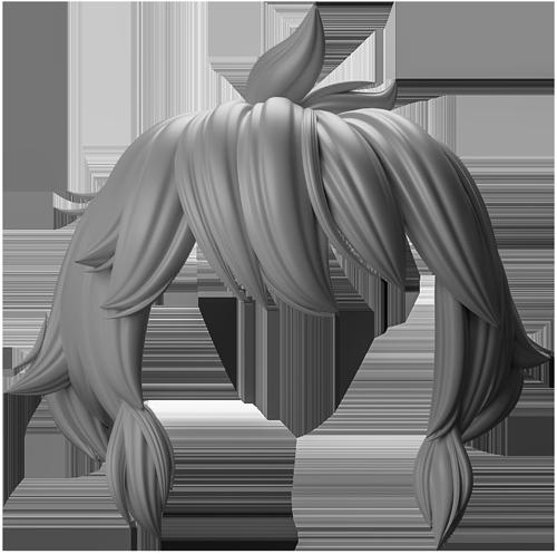发型制作效果 - Renderbus云渲染农场