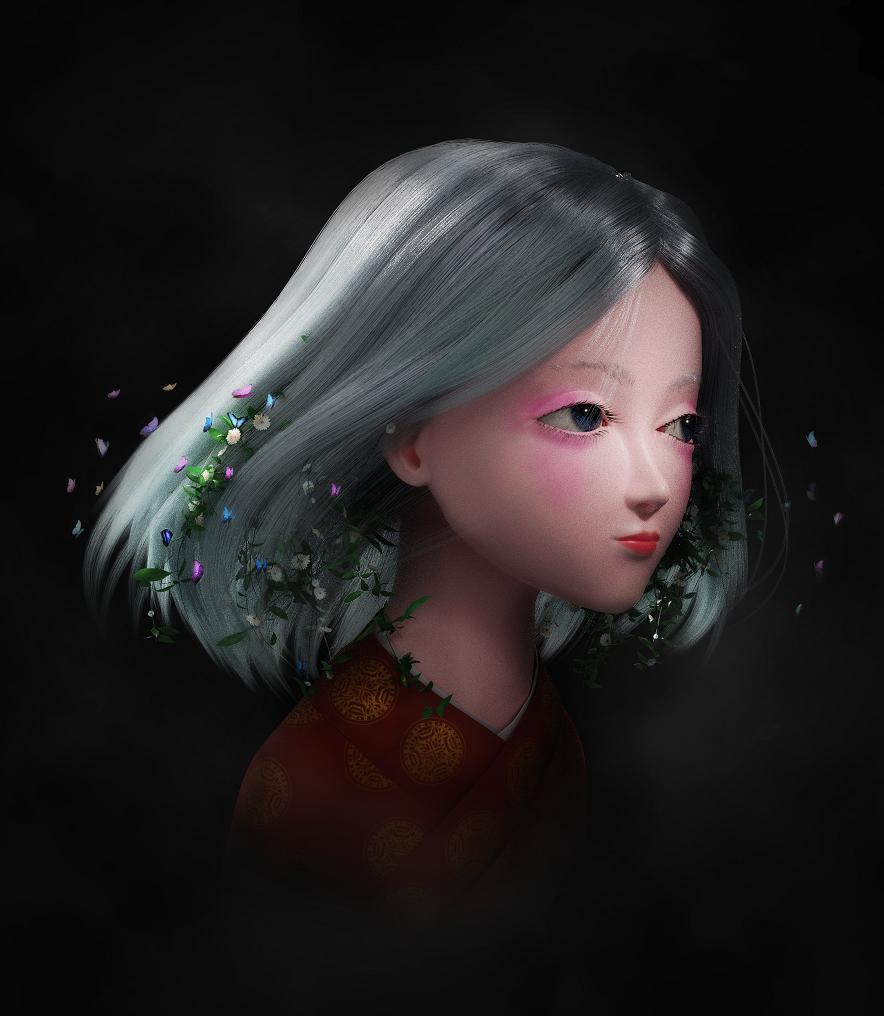 【Blender教程】在Blender中制作森系少女(下)