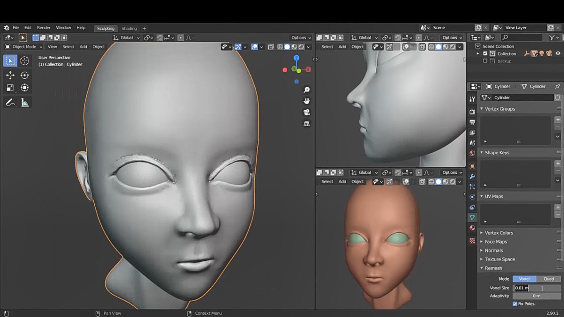 面部模型制作 - Renderbus云渲染农场