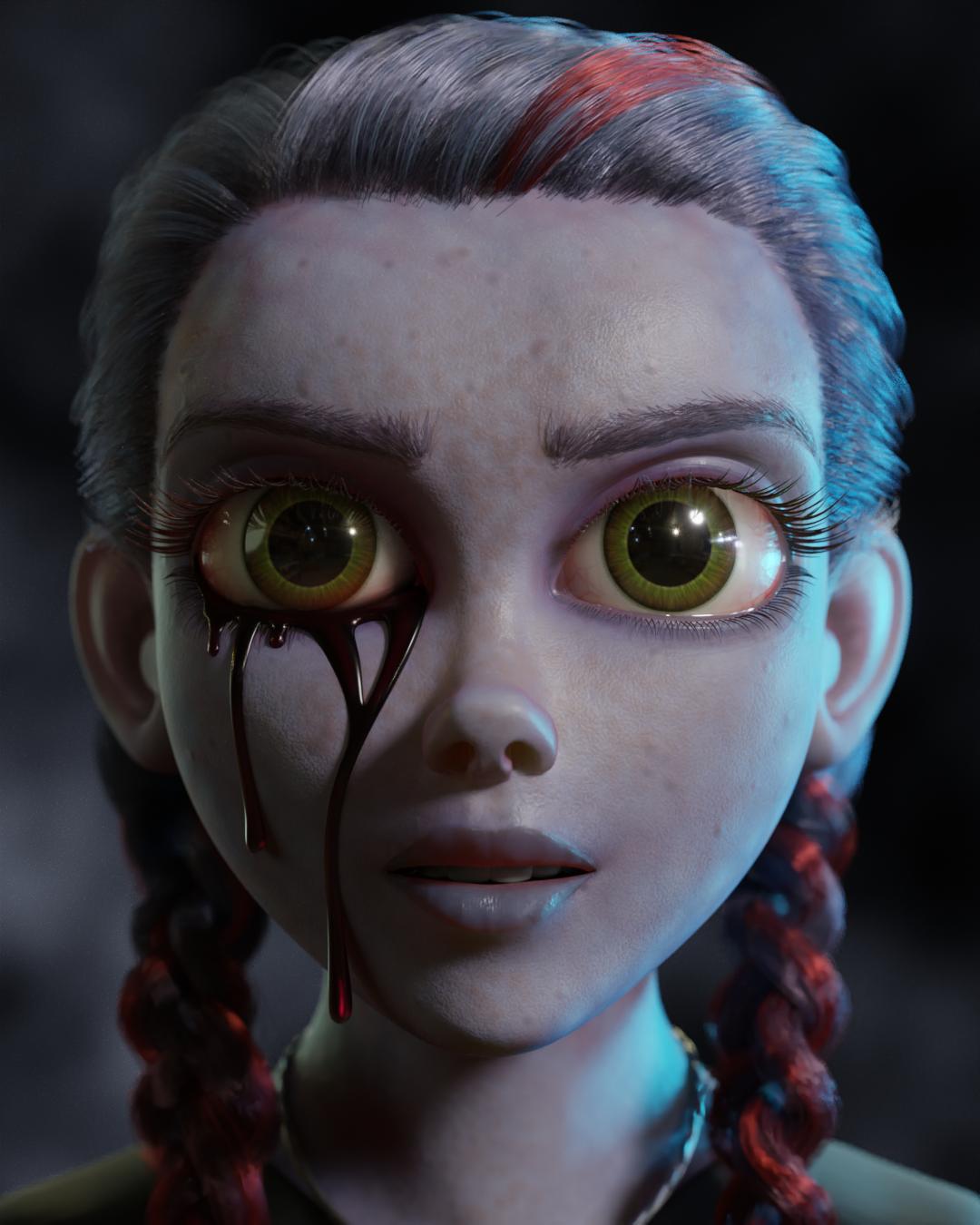 使用Blender创作《血腥玛丽》最终效果图